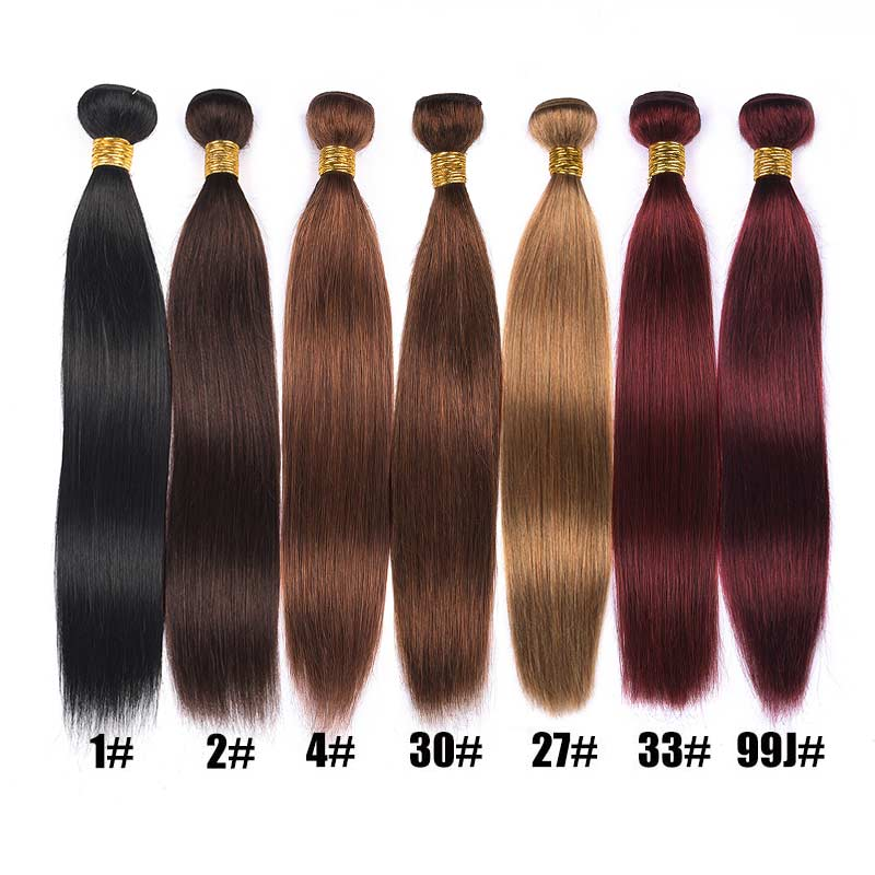 MarchQueen Brazilian Straight Hair 3 Bundles 7 Colors goodHuman Hair Weave Extensions For Sew In