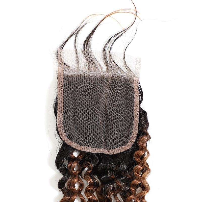 black and brown ombre weave