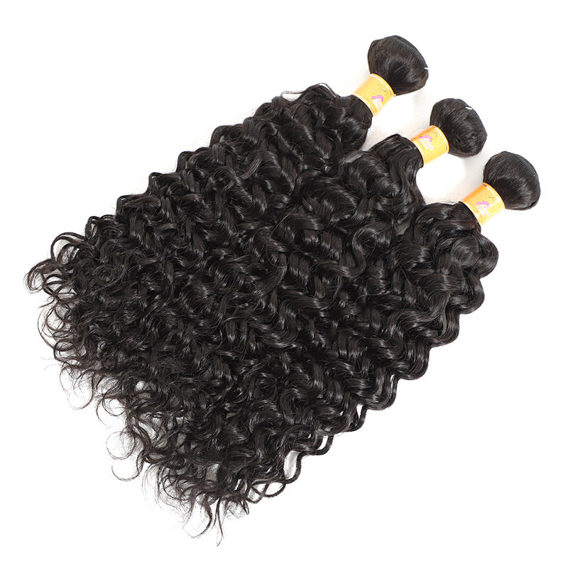Jerry Curl Human Hair 3 Bundles With Closure Indian Virgin Hair