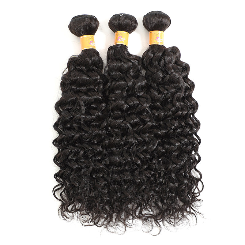 Human Hair 3 Bundles With Closure Indian Virgin Hair Good Cheap Weave