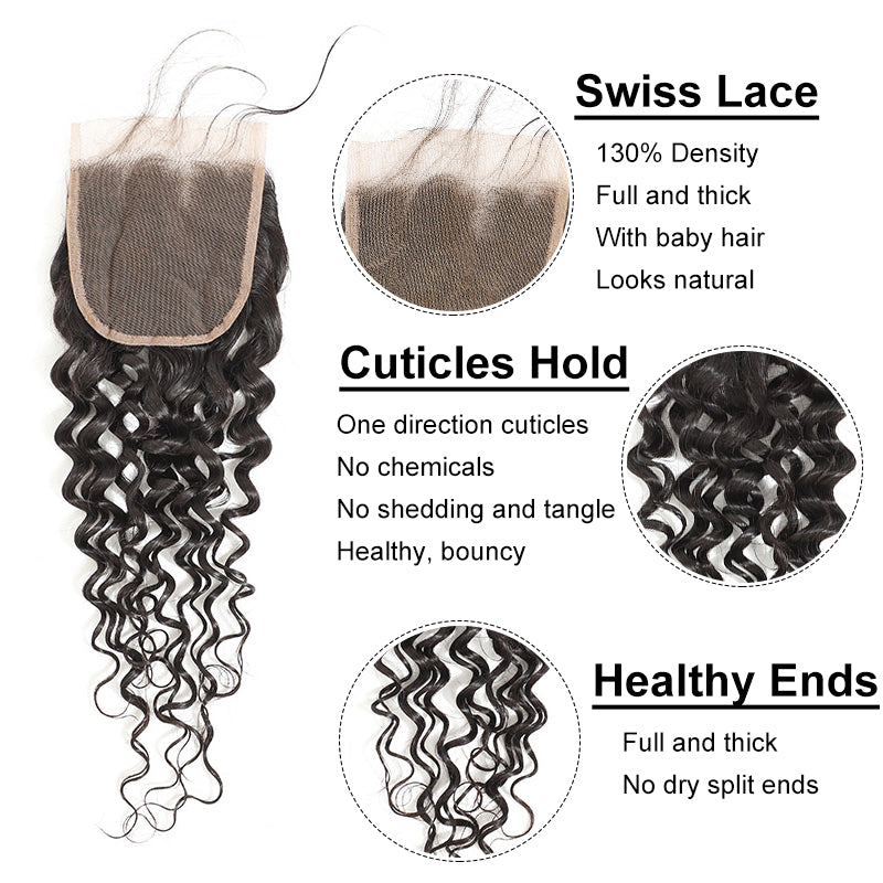 human hair with closure