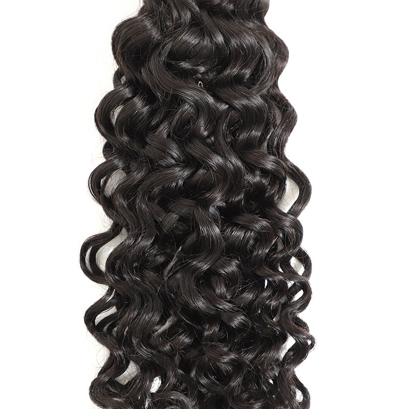 Fashionable Malaysian Virgin Hair Jerry Curl 3 Bundles With Clolsure, Affordable Virgin Human Hair Bundles And Closure, Cheap But Good Quality To Enjoy From MarchQueen.