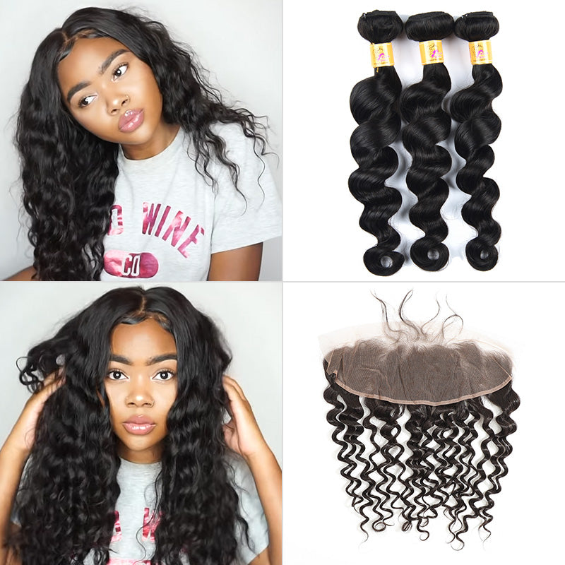 3 bundles with 13x4 frontal