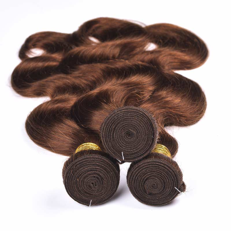 Brazilian Hair Body Wave 4 Bundles 100% Human Hair 10-24 Inch 4#