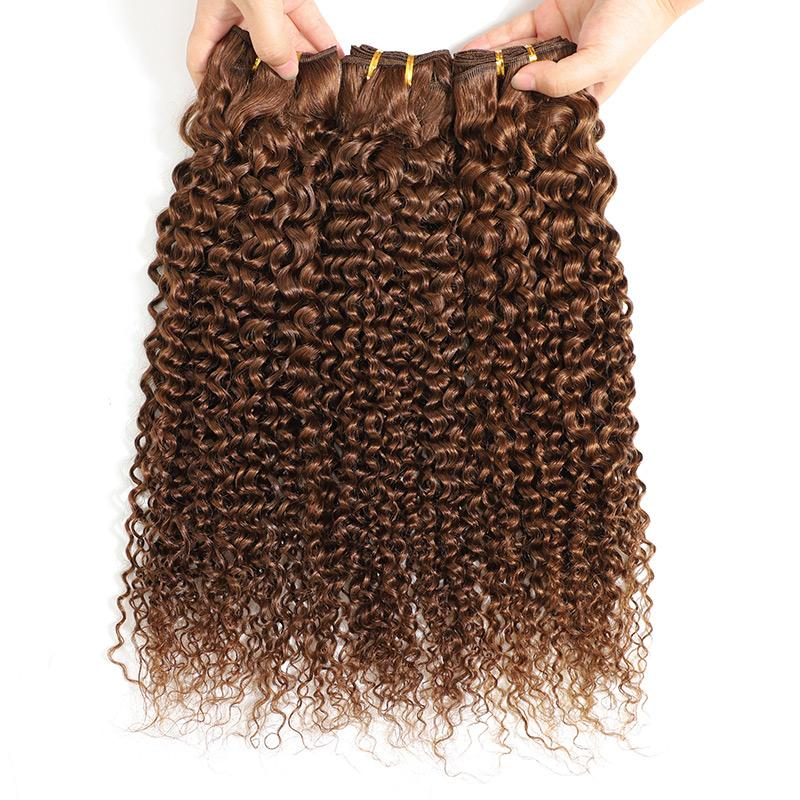 Curly Weave Bundles 3pcs Hair Weave For Women Brazilian Remy Virgin Hair