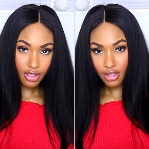 MarchQueen Malaysian Virgin Hair Straight Human Hair 4 Bundles With Closure 1b#