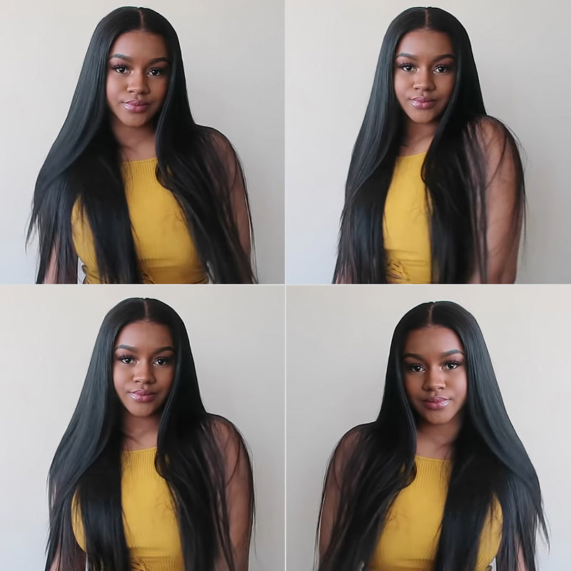 peruvian straight hair bundles with frontal