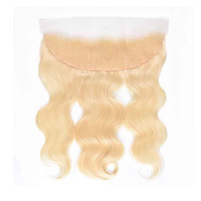 613 Blonde Body Wave 3 Bundles With 13x4 Lace Frontal Closure