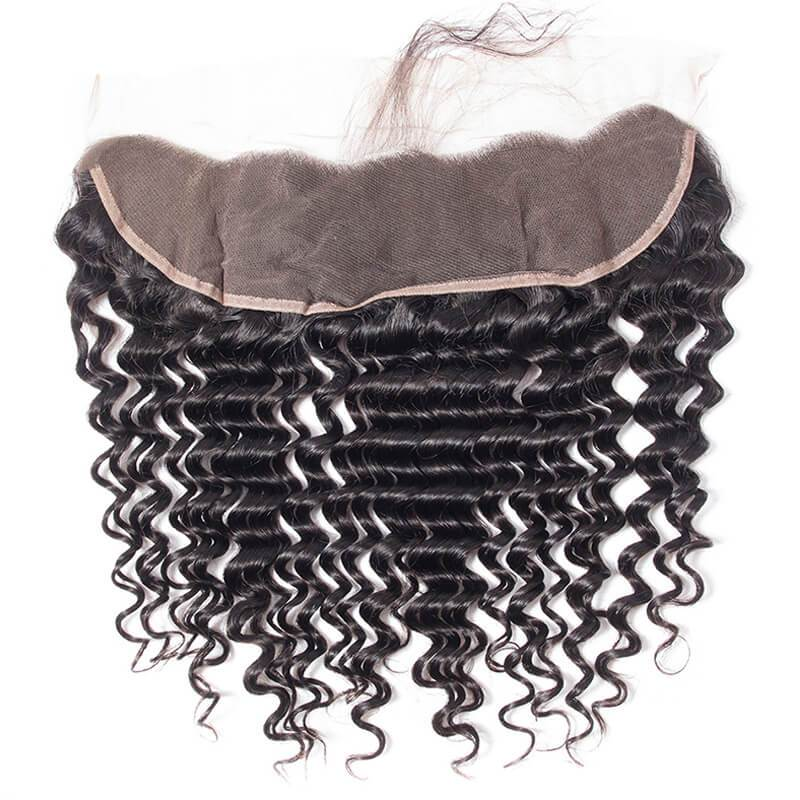 10 to 22inch Free Part Lace Frontals in Deep Wave