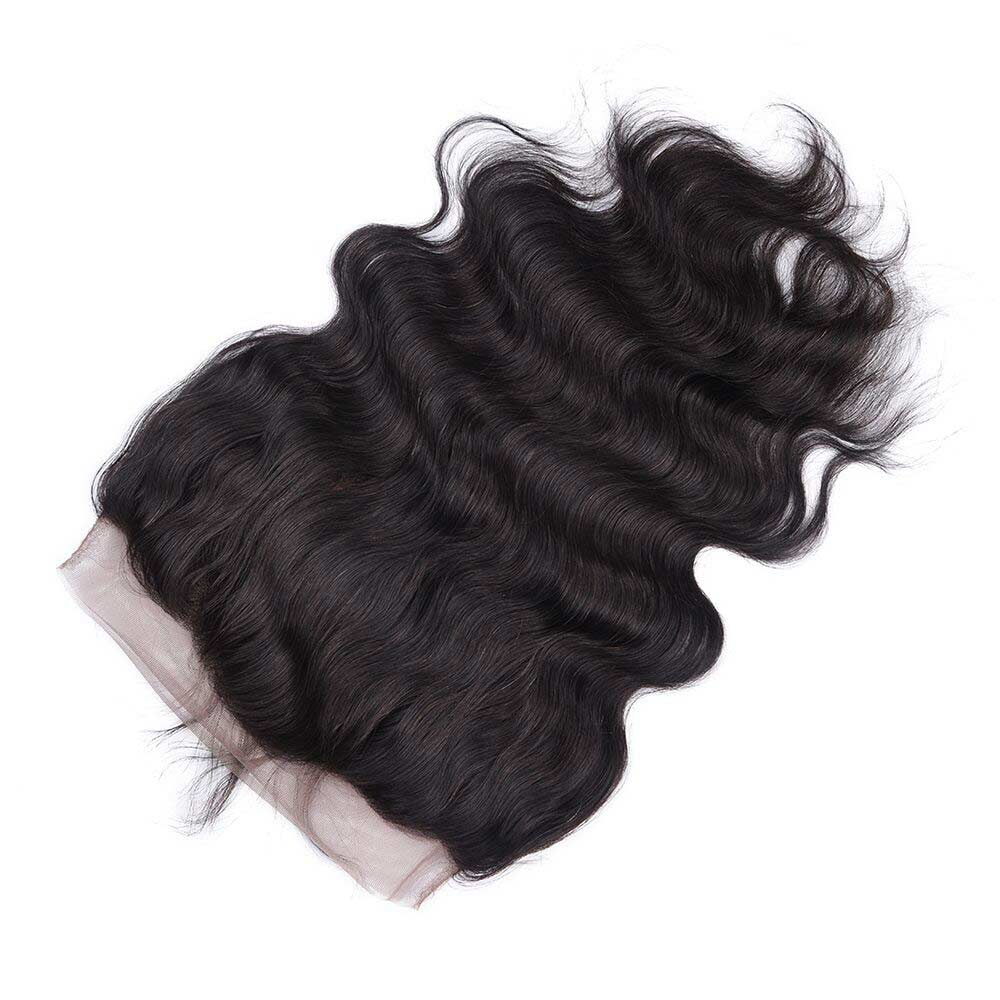 Unprocessed Human Hair Body Wave Full Lace Frontal Closure