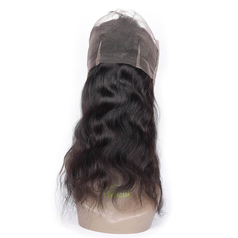 Best Quality Body Wave 360 Lace Frontal Closure 100% Human Hair 1b#