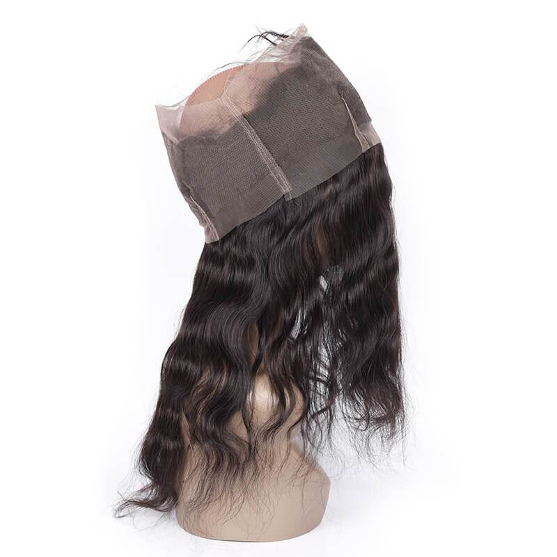 Unprocessed Human Hair 360 Full Lace Frontal Closure No Tax Free Shipping