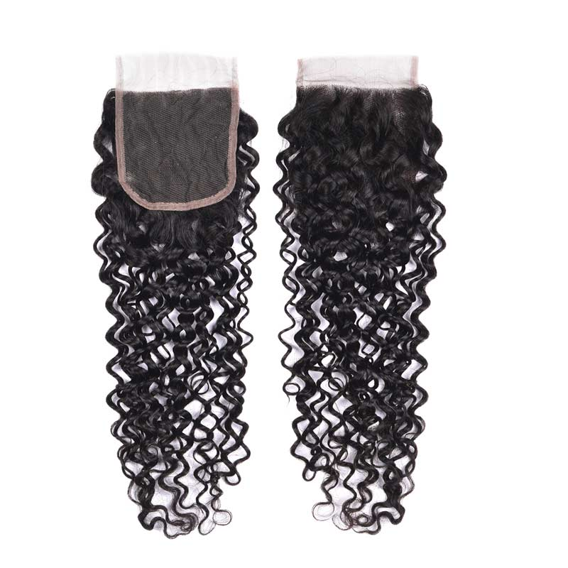 Curly Hair Closure Lace Size 4X4