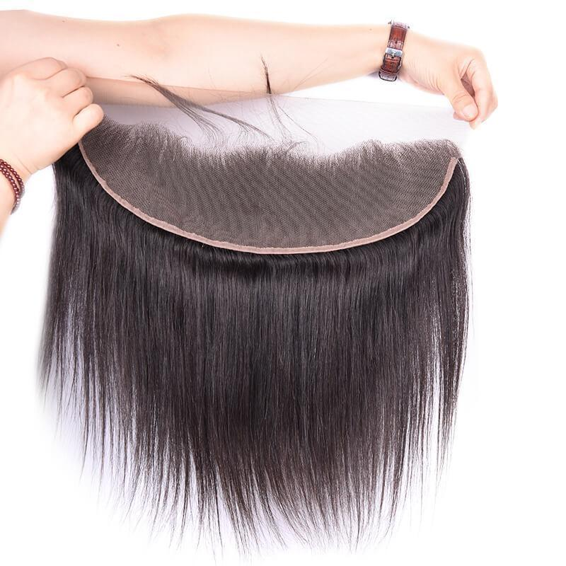 Most Popular Natural Black Color Hair Closure Lace Size 13*4 for Sale ear to ear lace frontal