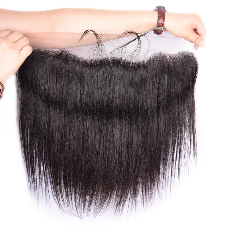 Most Popular Natural Black Color Hair Closure Lace Size 13*4 for Sale