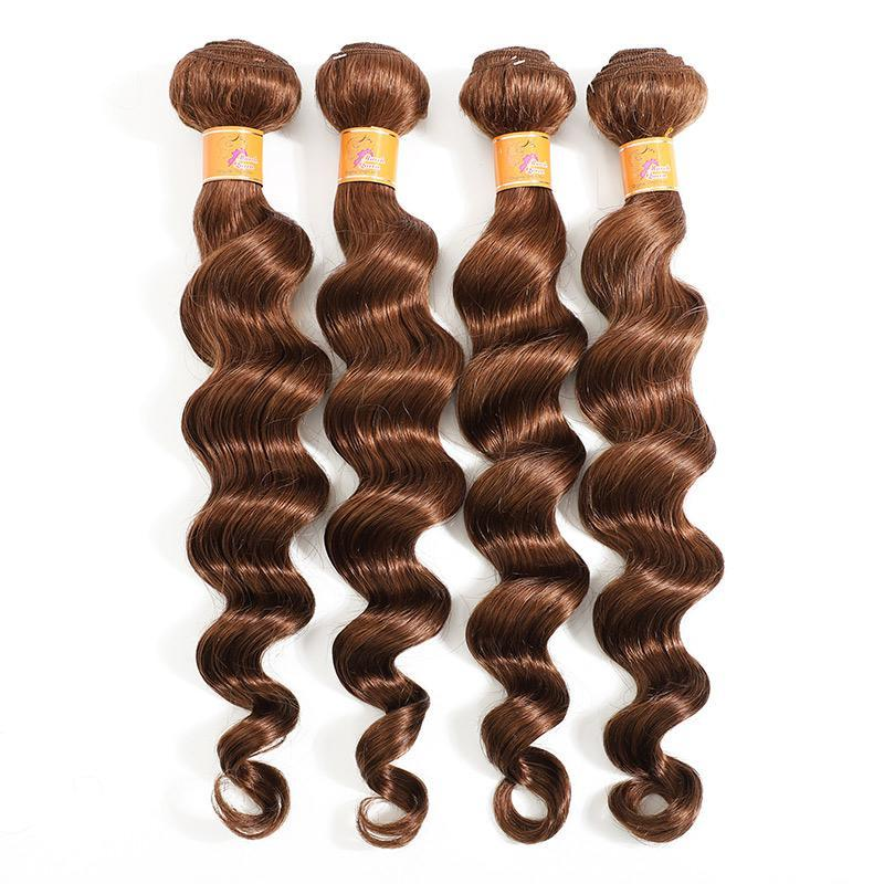 MarchQueen Loose Deep Wave Brazilian Hair 4 Bundles goodBeauty Supply Hair For Sew In Afro Weave Hair 4#