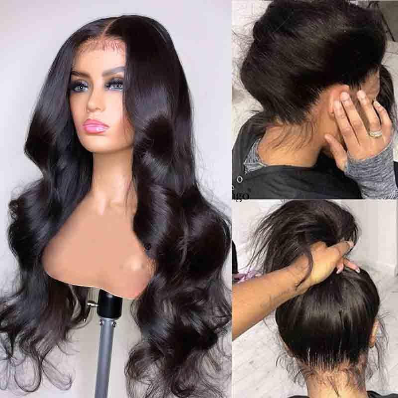 MarchQueen Glueless Full Lace Wigs Cheap Human Hair Skin Melt Transparent Lace Wig With Natural Hairline
