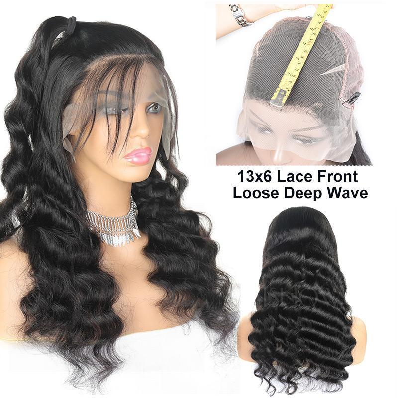 MarchQueen 13*6 Lace Front Human Hair Wigs Loose Deep Wave  150% 180% Pre Plucked Lace Frontal Wigs with Deep Part For Women