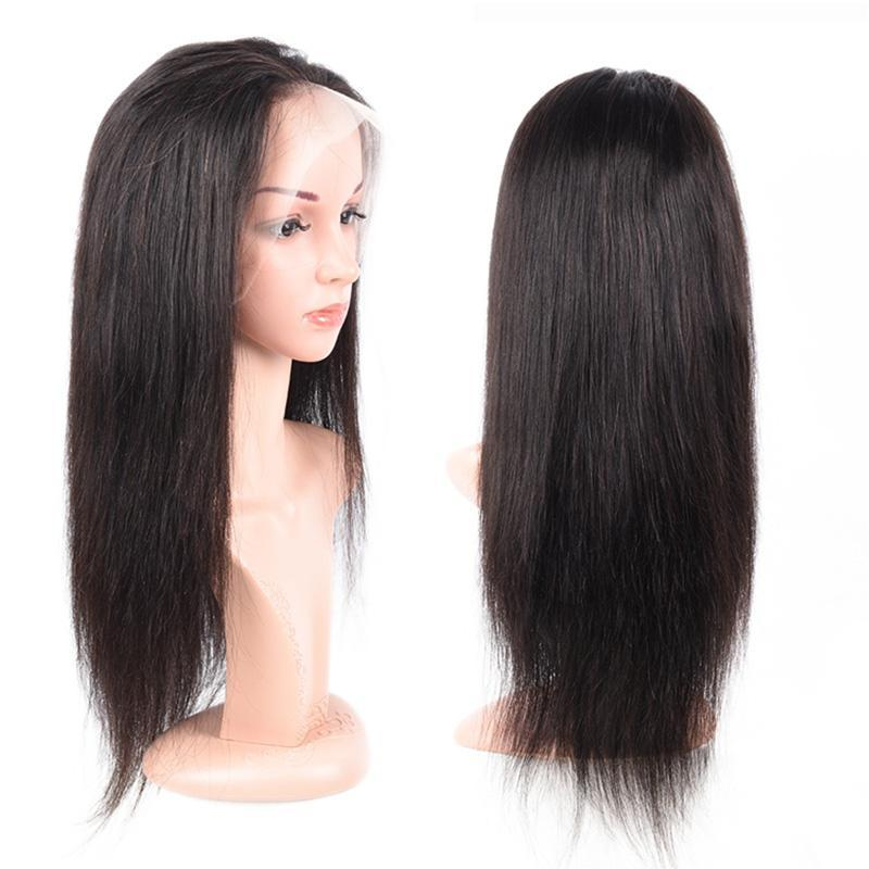 360 lace wigs human hair pre plucked