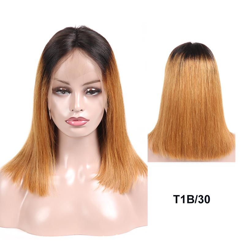 1B 30 brown ombre wig human hair