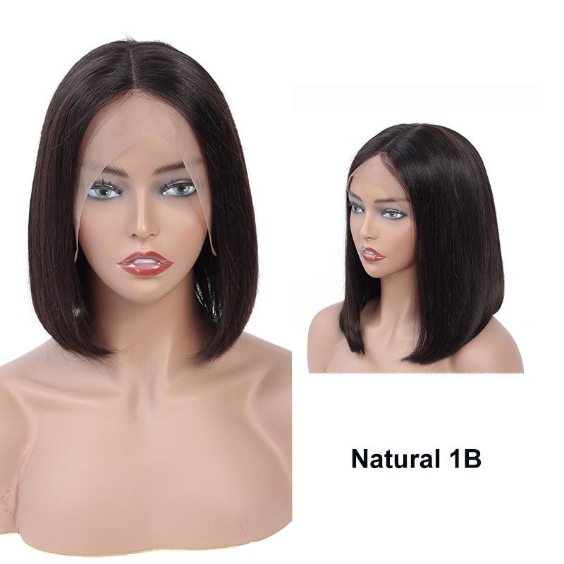 Ombre Colored Bob Wigs For Black Women Lace Front Human Hair Wigs