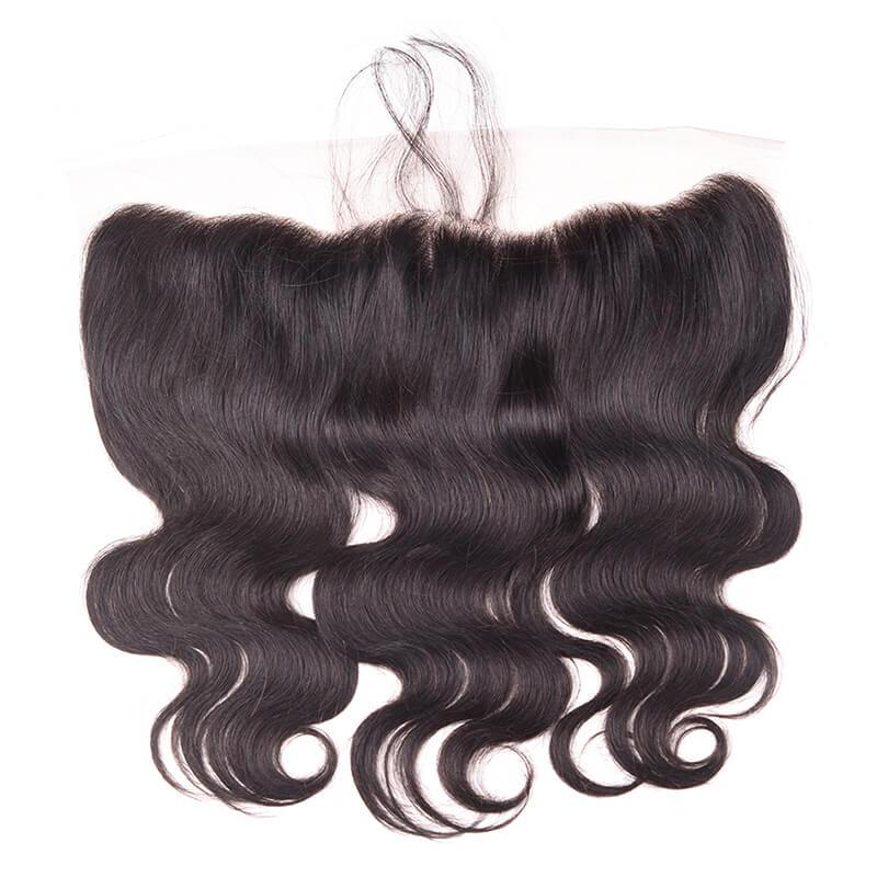 MarchQueen Ear To Ear Lace Frontal Closure 13x4 Body Wave Real Human Hair Body Wave Frontal Hair 1b#