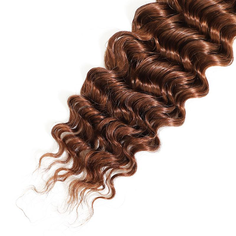 Unprocessed Deep Wave Human Hair Weave 3 Bundles Cheap Ombre Hair Extensions