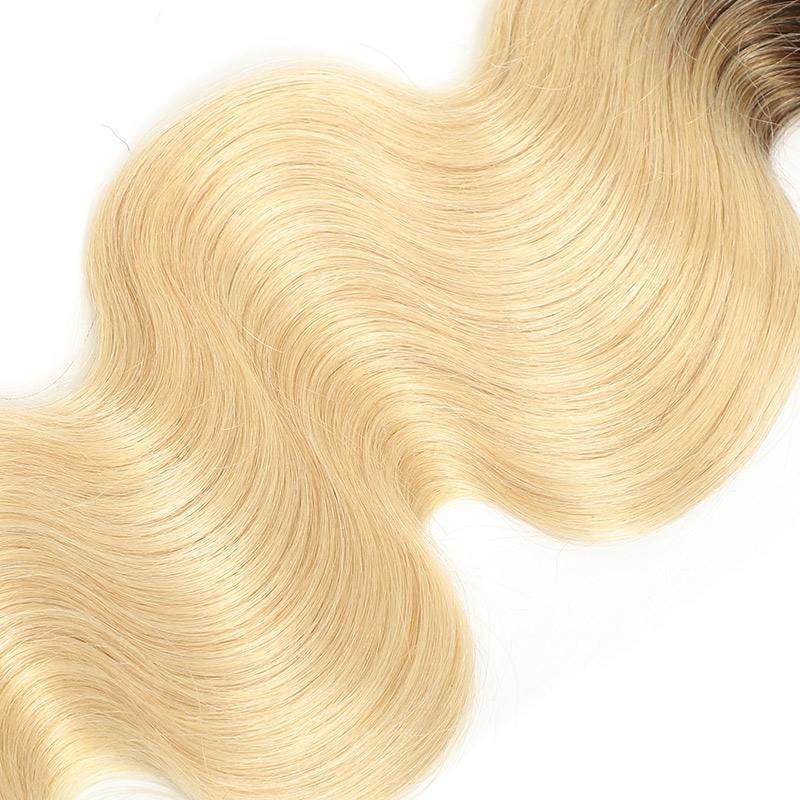 Remy Hair Weave Body Wave 4 Bundles 1B/613 Good Quality Hair Extension