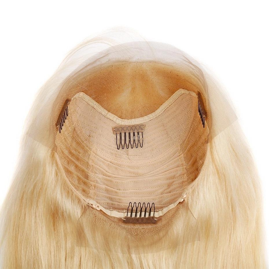 Straight 613 Blonde Lace Front Wig Human Hair Short Bob Wigs For Women