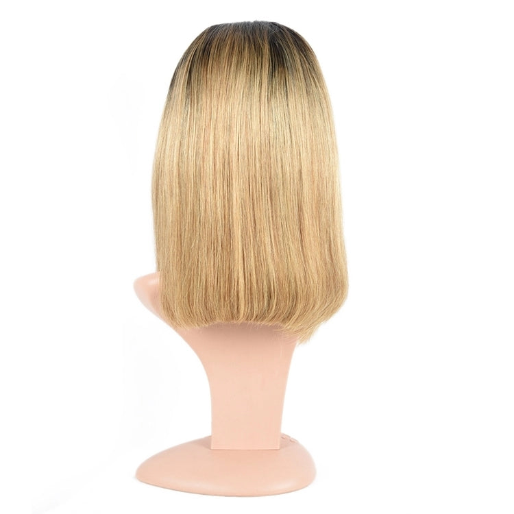 T1B/27 Ombre Blonde Short Bob Lace Front Human Hair Wigs for Women