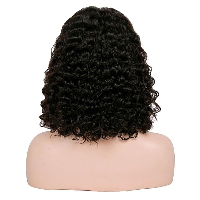 Brazilian Curly Human Hair Wigs 4x4 Short Bob Wig 150% Remy Human Hair Lace Closure Wigs Pre Plucked With Baby Hair