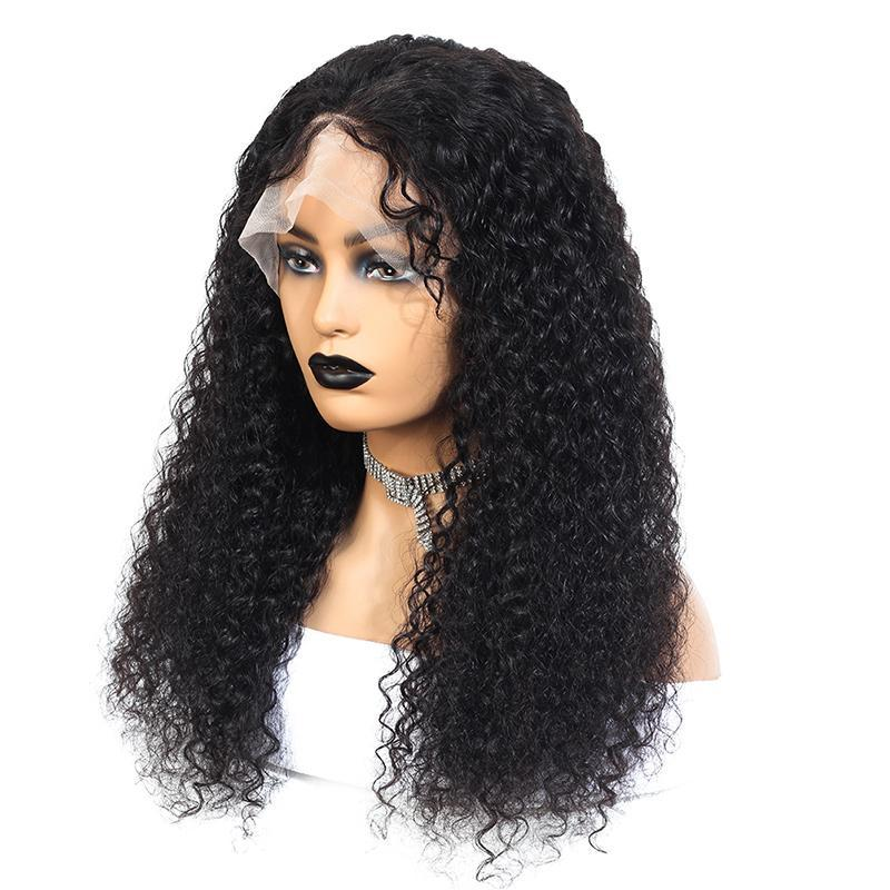 MarchQueen Curly Full Lace Human Hair Wigs For Women Brazilian Jerry Curly Glueless Full Lace Wig 250 Density Wig