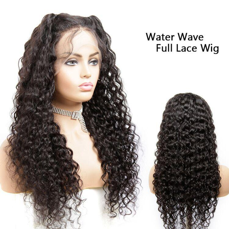 MarchQueen Glueless Full Lace Wigs Water Wave Cheap Human Hair Skin Melt Transparent Lace Wig With Natural Hairline