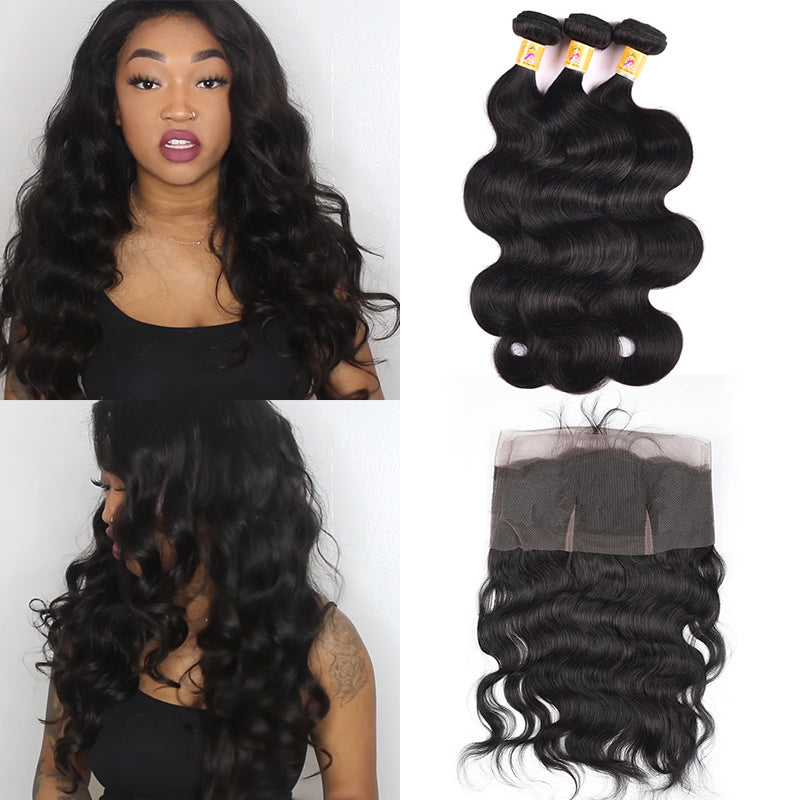 body wave bundles with 360 frontal