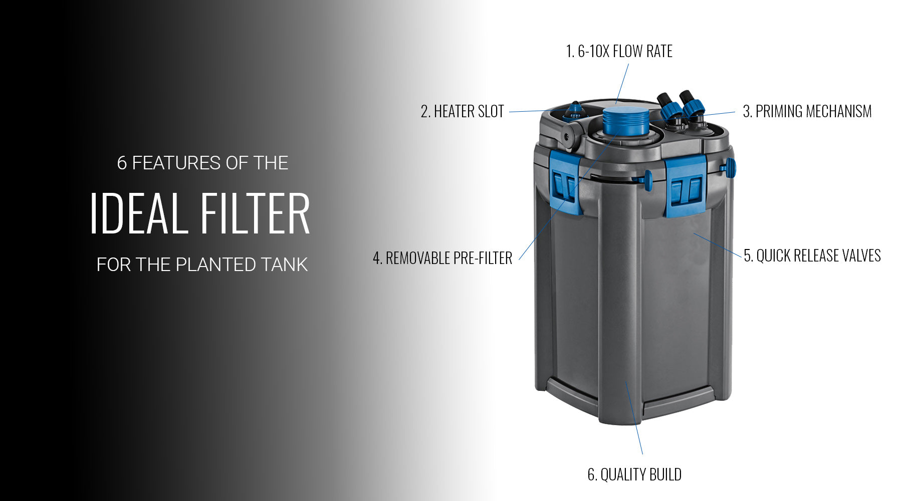6 features of an ideal planted tank filter