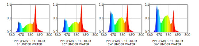 Water depth and spectrum