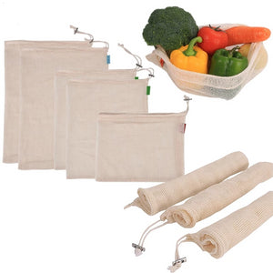 Cotton Mesh Grocery Bag
