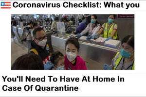 Coronavirus Checklist: What You'll Need To Have At Home In Case Of Quarantine