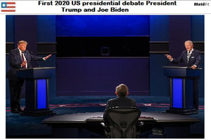 First 2020 US presidential debate President Trump and Joe Biden