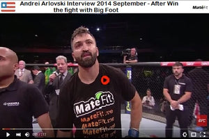 MateFit teatox: Andrei Arlovski Interview 2014 September