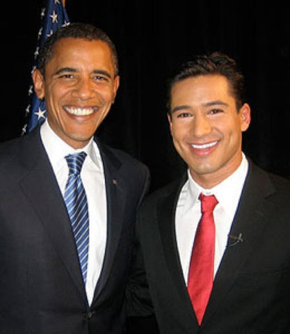 Barack Obama and Mario Lopez, Together At Last