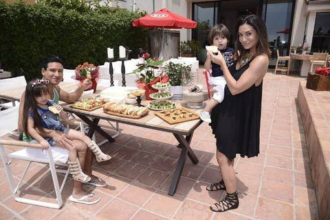 Mario Lopez and his daughter enjoyed a spectacular Sabra Four Course july 4th at the Kia Malibu Beach House powered by Matefit.png