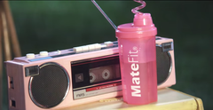 MateFit  - Pretty Girls - Britney Spears & Iggy Azalea  MateFIt Pink Shaker Bottle