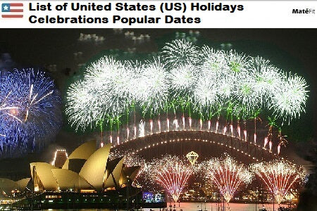 News List of United States (US) Holidays Celebrations Popular Dates - By Teatox Company