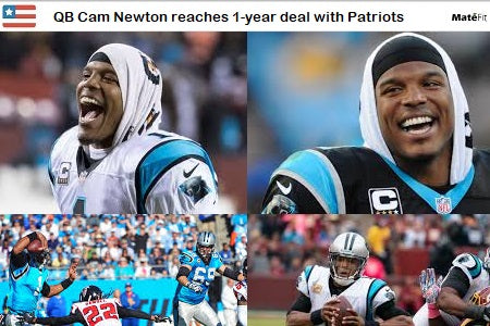 News QB Cam Newton reaches 1-year deal with Patriots, sources say