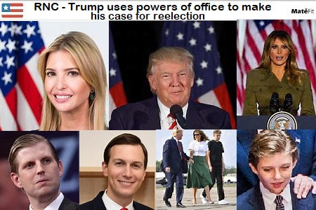 News RNC Night 2 Trump uses powers of office to make his case for reelection