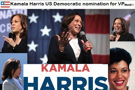 News US Senator Kamala Harris accepted the Democratic nomination for vice president Making history as the first Black woman and Asian-American on a major US presidential ticket