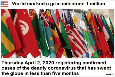 The world marked a grim milestone on Thursday April 2 2020, registering more than 1 million confirmed cases of the deadly coronavirus that has swept the globe in less than five months.
