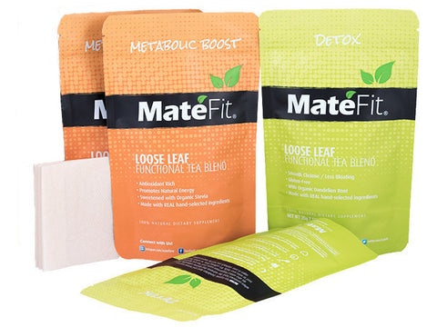 Teatox 28 Days Tea ULTIMATE - MateFit.Me - 56  Servings Day Time  - 16  Servings Night Time - Weight Loss Tea - MateFit.Me - 1