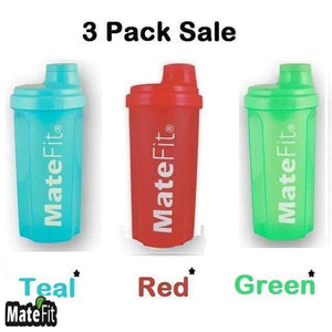 3 Pack Nutrition Shaker Bottles - MateFit.Me Teatox  Co